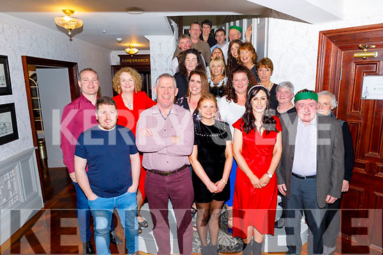 The staff of Gaelscoil Mhic Easmainn enjoying their Christmas party in the Meadowlands Hotel on Friday night.