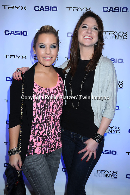 "Kristen Alderson and Brittany Underwood of ""One Life to Live"" attending The Casio Tryx Camera Launch .on April 7, 2011 at the Best Buy Theatre in New York City. Nicki Minaj and The Roots performed."