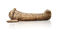 Ancient Egyptian mummy of the Roman Period - 1st cent BC to 2 cent AD. Egyptian Museum, Turin. white background