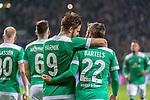 08.03.2019, Weser Stadion, Bremen, GER, 1.FBL, Werder Bremen vs FC Schalke 04, <br /> <br /> DFL REGULATIONS PROHIBIT ANY USE OF PHOTOGRAPHS AS IMAGE SEQUENCES AND/OR QUASI-VIDEO.<br /> <br />  im Bild<br /> <br /> Jubel Martin Harnik (Werder Bremen #09) Tor 4:2 Fin Bartels (Werder Bremen #22)<br /> Foto &copy; nordphoto / Kokenge