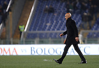 Calcio, Serie A: Roma vs Inter. Roma, stadio Olimpico, 19 marzo 2016.<br /> Roma&rsquo;s coach Luciano Spalletti leaves the pitch at the end of the Italian Serie A football match between Roma and FC Inter at Rome's Olympic stadium, 19 March 2016. The game ended 1-1.<br /> UPDATE IMAGES PRESS/Isabella Bonotto