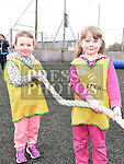 Lily May Curtis and Emily Flanagan who took part in the St Mary's GAA Club Academy for 4-7 year olds. Photo:Colin Bell/pressphotos.ie