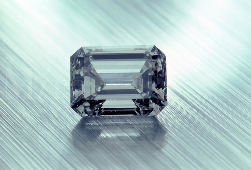 A square cut diamond.