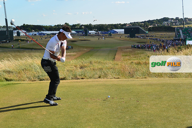 Hiroyuki FUJITA (JAP) during round one of  The 142th Open Championship Muirfield, Gullane, East Lothian, Scotland 18/7/2013<br /> Picture Eoin Clarke www.golffile.ie: