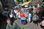 The Japan Market in the Dutch city of Leiden, the center of Japan studies in the Netherlands. Started by Japan Museum SieboldHuis after the Japanese emperor visit in 2000, the Japan Market takes place annually. It features many dozens of stalls introducing different aspects of Japan, and all kinds of activities, ranging from music and dance performances to a cosplay photo shoot. Picture shot in Leiden, Holland on May 24th, 2015.