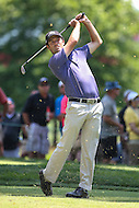 Bethesda, MD - June 26, 2016:  Robert Streb (USA) tee shot during Final Round of professional play at the Quicken Loans National Tournament at the Congressional Country Club in Bethesda, MD, June 26, 2016.  (Photo by Elliott Brown/Media Images International)