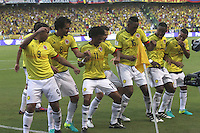 BARRANQUILLA -COLOMBIA, 11-OCTUBRE-2016. Abel Aguilar jugador de Colombia celebra su gol contra Uruguay durante el  encuentro  por las eliminatorias al mundial de Rusia 2018  disputado en el estadio Metropolitano Roberto Meléndez de Barranquilla./ Abel Aguilar  Colombia player celebrates his goal against of Uruguay during the qualifying match for the 2018 World Championship in Russia Metropolitano Roberto Melendez stadium in Barranquilla . Photo:VizzorImage / Felipe Caicedo  / Staff