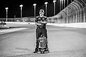 #16: Brett Moffitt, Hattori Racing Enterprises, Toyota Tundra AISIN Group with the NCWTS Championship trophy