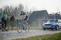 Zdenek Stybar (CZE/OPQS) on the cobbles of the Varentstraat<br /> <br /> 57th E3 Harelbeke 2014