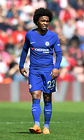 Chelsea's Willian <br /> <br /> Photographer David Horton/CameraSport<br /> <br /> The Premier League - Southampton v Chelsea - Saturday 14th April2018 - St Mary's Stadium - Southampton<br /> <br /> World Copyright &copy; 2018 CameraSport. All rights reserved. 43 Linden Ave. Countesthorpe. Leicester. England. LE8 5PG - Tel: +44 (0) 116 277 4147 - admin@camerasport.com - www.camerasport.com