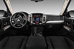 Stock photo of straight dashboard view of 2016 Mitsubishi Pajero Instyle 5 Door Suv Dashboard