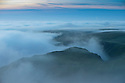 12/10/14 <br /> <br /> Dawn breaks over Winnats Pass in the Derbyshire Peak District as seen from Mam Tor high above Castleton.<br /> <br /> All Rights Reserved: F Stop Press Ltd. +44(0)1335 300098   www.fstoppress.com.