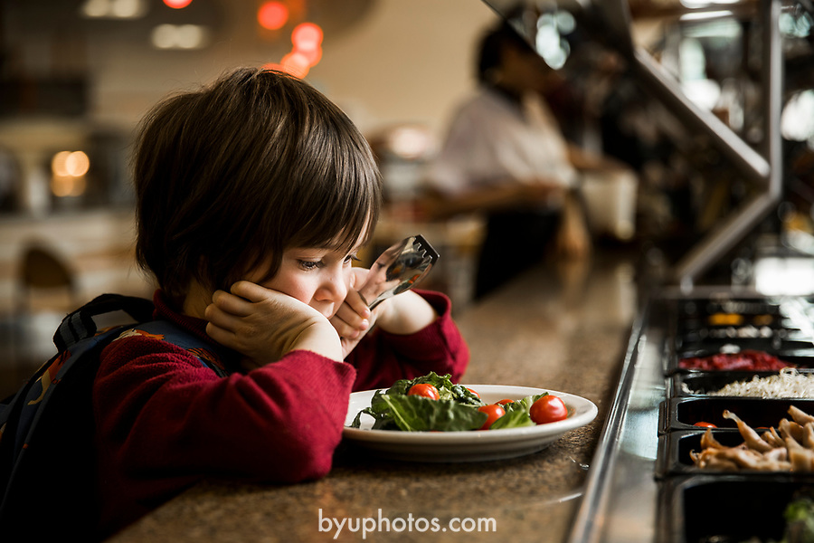 _E2_9799<br /> <br /> 1703-11 Salad Bar in Public School<br /> <br /> December 9, 2016<br /> <br /> Photography by Nate Edwards/BYU<br /> <br /> © BYU PHOTO 2016<br /> All Rights Reserved<br /> photo@byu.edu  (801)422-7322