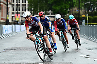 Picture by Alex Broadway/SWpix.com - 18/05/2017 - Cycling - Tour Series Round 5, Croydon - Matrix Fitness Grand Prix - Storey Racing's Elizabeth Jane Harris leads the front group.