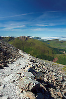Glen Nevis and the Mamores from the Mountain Track, Ben Nevis, Lochaber