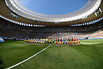 Two team group line-up,<br /> JULY 5, 2014 - Football / Soccer :<br /> FIFA World Cup Brazil 2014 Quarter-finals match between Argentina 1-0 Belgium at Estadio Nacional in Brasilia, Brazil. (Photo by FAR EAST PRESS/AFLO)