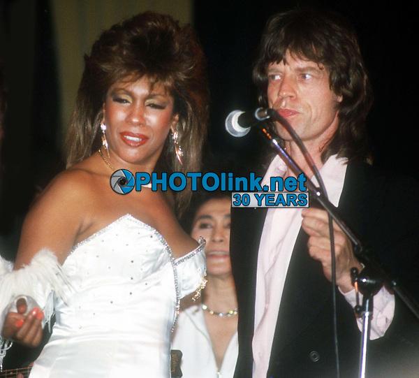 Mary Wilson Mick Jagger 1983<br /> Photo By John Barrett/PHOTOlink.
