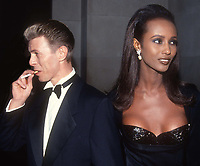 David Bowie Iman 1990<br /> Photo By John BarrettPHOTOlink.net