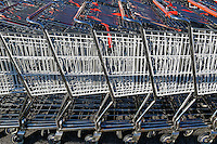 Supermarket shopping carts.