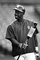 Chili Davis of the California Angels at Anaheim Stadium in Anaheim,California during the 1996 season. (Larry Goren/Four Seam Images)