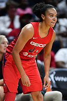 Washington, DC - July 13, 2019: Washington Mystics guard Kristi Toliver (20) during game between Las Vegas Aces and Washington Mystics at the Entertainment & Sports Arena in Washington, DC. The Aces defeated the Mystics 81-85. (Photo by Phil Peters/Media Images International)