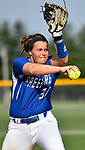 Freeburg pitcher Miranda Schulte. Breese Central High School played at Freeburg High School on Tuesday May 1, 2018. Tim Vizer | Special to STLhighschoolsports.com