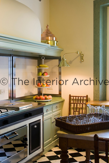 The country style kitchen is nevertheless equipped with modern appliances
