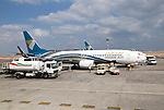 Oman Airways Boeing 737 plane, Seeb International Airport, Muscat, Oman,