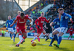 23.02.2020 St Johnstone v Rangers: Alfredo Morelos fails to find the target