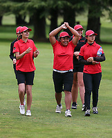 Canterbury celebrate winning their semi final match against North Harbour. Day Four of the Toro Interprovincial Women's Championship, Sherwood Golf Club, Whangarei,  New Zealand. Friday 8 December 2017. Photo: Simon Watts/www.bwmedia.co.nz