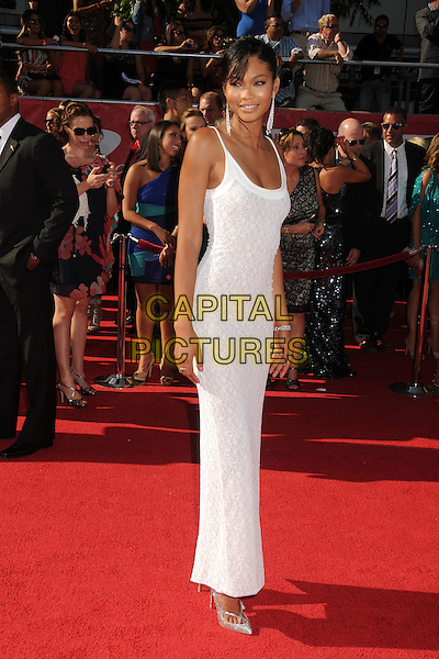 Chanel Iman.2012 ESPY Awards - arrivals held at Nokia Theatre L.A. Live,  Los Angeles, California, USA..11th July 2012.full length white dress .CAP/ADM/BP.©Byron Purvis/AdMedia/Capital Pictures.