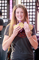 August 17, 2012  Allison Schmitt 3 time gold medalist for Olympic 2012 visit the  NBC's Today Show  at Rockefeller Center in New York City.Credit:© RW/MediaPunch Inc. /NortePhoto.com<br />