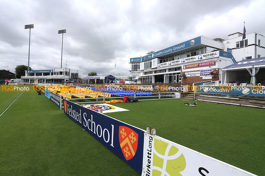 General view looking towards the pavilion ahead of Essex Eagles vs Glamorgan, NatWest T20 Blast Cricket at The Cloudfm County Ground on 16th July 2017