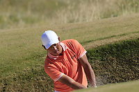 Ashun Wu (CHN) chips from a bunker at the 6th green during Friday's Round 2 of the 2018 Dubai Duty Free Irish Open, held at Ballyliffin Golf Club, Ireland. 6th July 2018.<br /> Picture: Eoin Clarke | Golffile<br /> <br /> <br /> All photos usage must carry mandatory copyright credit (&copy; Golffile | Eoin Clarke)