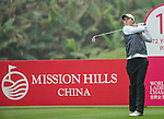 Stacey Keating of Australia tees off at the 13th hole during Round 3 of the World Ladies Championship 2016 on 12 March 2016 at Mission Hills Olazabal Golf Course in Dongguan, China. Photo by Victor Fraile / Power Sport Images
