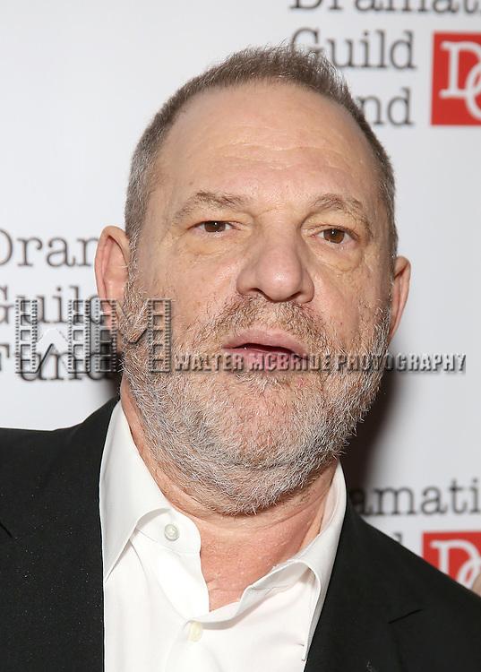 Harvey Weinstein attends the Dramatists Guild Fund Gala 'Great Writers Thank Their Lucky Stars : The Presidential Edition' at Gotham Hall on November 7, 2016 in New York City.