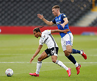 4th July 2020; Craven Cottage, London, England; English Championship Football, Fulham versus Birmingham City; Gary Gardner of Birmingham City challenges Bobby Decordova-Reid of Fulham