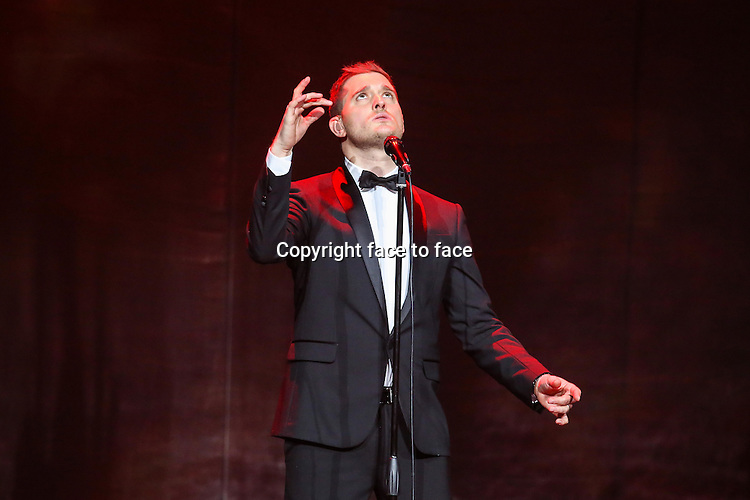 RALEIGH, NC - OCTOBER 25: Michael Buble performs at the PNC Arena in Raleigh, NC, October 25, 2013. <br />