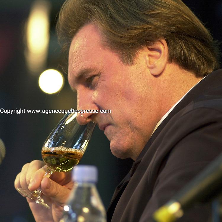 Depardieu au Festival des Films du Monde, Montr&Egrave;al CANADA<br /> <br /> Photo : (c) Pierre Roussel / Images Distribution