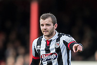 Jamey Osborne of Grimsby Town during the Sky Bet League 2 match between Grimsby Town and Wycombe Wanderers at Blundell Park, Cleethorpes, England on 4 March 2017. Photo by Andy Rowland / PRiME Media Images.