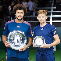 ABN AMRO World Tennis Tournament, Rotterdam, The Netherlands, 19 Februari, 2017, David Goffin (BEL), Jo-Wilfried Tsonga (FRA)<br /> Photo: Henk Koster