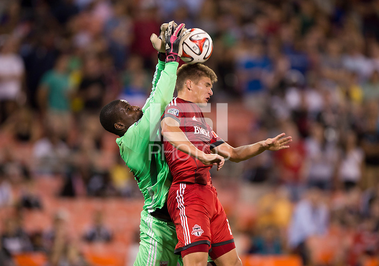 Washington, DC - July 30, 2014: D.C. United defeated Toronto FC during a Major League Soccer (MLS) game at RFK Stadium.