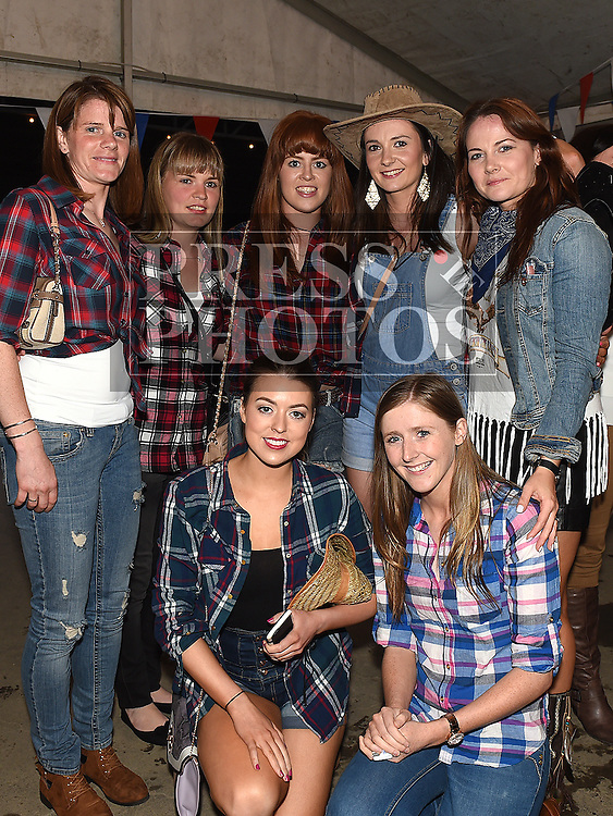 The girls from Dee Rangers Ladies GFC at the Oberstown Farm barn dance. Photo:Colin Bell/pressphotos.ie