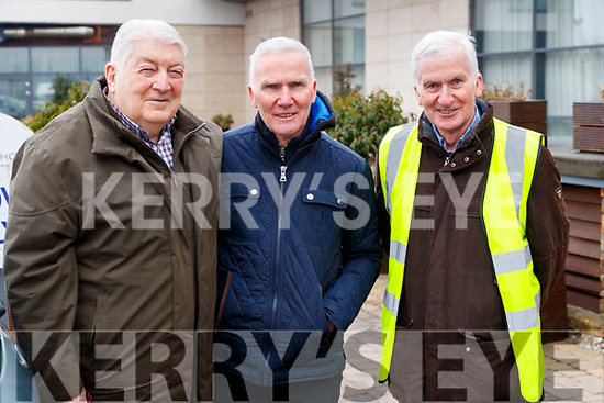 Paudie Fitzgerald, Matt Lacey and Martin Lacey, at the Lacey Cup Cycle on Sunday morning last.