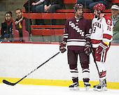Spiro Goulakos (Colgate - 6), Alex Killorn (Harvard - 19) - The Harvard University Crimson defeated the visiting Colgate University Raiders 4-2 on Saturday, November 12, 2011, at Bright Hockey Center in Cambridge, Massachusetts.