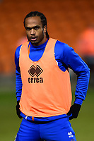 Blackpool's Nathan Delfouneso warms up<br /> <br /> Photographer Richard Martin-Roberts/CameraSport<br /> <br /> The EFL Sky Bet League One - Blackpool v Charlton Athletic - Tuesday 13th March 2018 - Bloomfield Road - Blackpool<br /> <br /> World Copyright &not;&copy; 2018 CameraSport. All rights reserved. 43 Linden Ave. Countesthorpe. Leicester. England. LE8 5PG - Tel: +44 (0) 116 277 4147 - admin@camerasport.com - www.camerasport.com