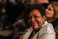 SAO PAULO, SP, 27 MAIO 2013 - LULA DIA DA AFRICA - Matilde Ribeiro ex ministra-chefe da Secretaria Especial de Políticas de Promoção da Igualdade Racial no Governo Lula durante evento D'África-São Paulo, que celebra o Dia da África na sede da prefeitura de Sao Paulo na regiao central da cidade nesta segunda-feira, 27. FOTO: VANESSA CARVALHO - BRAZIL PHOTO PRESS.