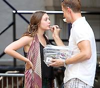 July 18, 2012: Elizabeth Olsen shooting on location for new movie  the Very Good Girls in New York City.&copy; RW/MediaPunch Inc. *NORTEPHOTO.COM*<br /> **CREDITO*OBLIGATORIO** *No*Venta*A*Terceros*.*No*Sale*So*third* ***No*Se*Permite*Hacer Archivo***No*Sale*So*third*&Acirc;&copy;Imagenes*con derechos*de*autor&Acirc;&copy;todos*reservados* /*NORTEPHOTO.com*<br /> **SOLO*VENTA*EN*MEXICO**<br />  **CREDITO*OBLIGATORIO** *No*Venta*A*Terceros*<br /> *No*Sale*So*third* ***No*Se*Permite*Hacer Archivo***No*Sale*So*third*&Acirc;&copy;Imagenes*con derechos*de*autor&Acirc;&copy;todos*reservados*.