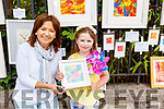 Croíagh Mullen and Judy Costelloe at the Art in the Park  at the Féile na mBláth on Saturday