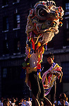 Chineses new year celebration with dragon dancer in Chinatown Seattle Washington State USA